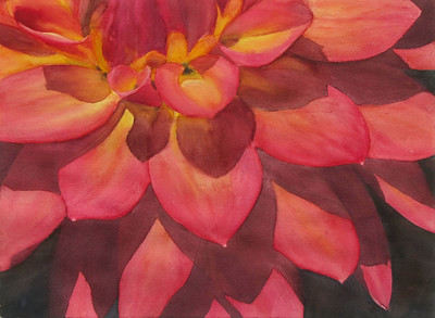 """Dahlia"" (watercolor) by Elizabeth Burin"