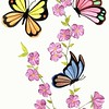 """Butterflies & Flowers"" (watercolor) by Christina deSousa"