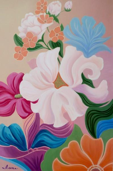 """Summer Symphony"" (acrylic on canvas) by Irene Hurdle"