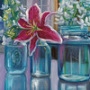 """From my garden"" (oil) by Marnie Bourque"