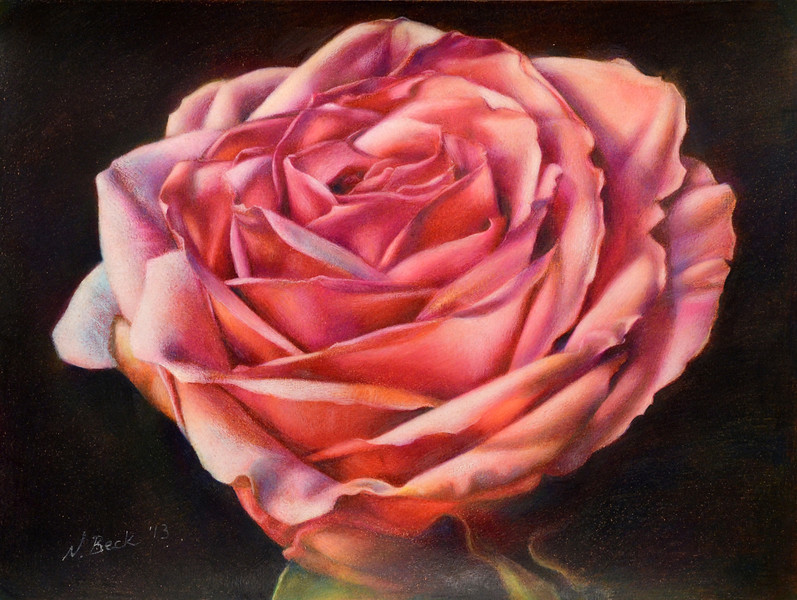 """Afternoon Glow"" (colored pencil) by Nathalie Beck"