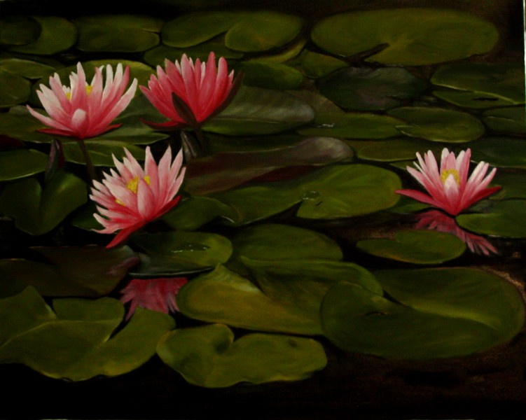 """Quiet Pond"" (oil) by Mary Datum"