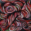 """Rosettes"" (acrylic on canvas) by Denise Valentino"