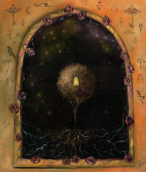 """The Tree of Alchemy"" (oil on canvas) by Svetlana Elf"
