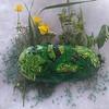 """""""Fairy forest"""" (acrylic on sea stone) by Marina Chubukova"""