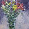 """Flowers in Vase"" (acrylic on illustration board) by Eugene Kuperman"