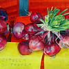 """Calabrian Onions"" (watercolor) by Elizabeth Burin"