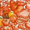 """Organic vs. Non-organic"" (gouache & color pencil on paper) by Denise Nguyen"