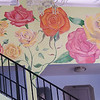 """Rose Mural"" (acrylic and house wall paint) by Eugene Kuperman"