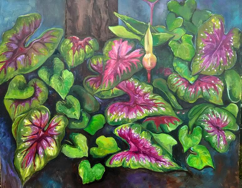 """""""On a Riverside Stroll"""" (acrylic) by Elsa O'Reilly"""