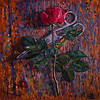 """My First Rose. 2015"" (oil) by Ekaterina Zhavoronok"