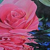 """A Grandmother's Rose"" (acrylic) by Bronte Duvic"
