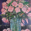 """Rose Vase"" (oil on canvas) by Eugene Kuperman"