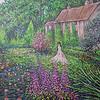"""A Walk through the Garden"" (acrylic on canvas) by Eugene Kuperman"