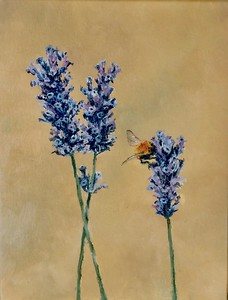"""The Lavender and The Bumblebee"" (oil on canvas) by Louis Degni"
