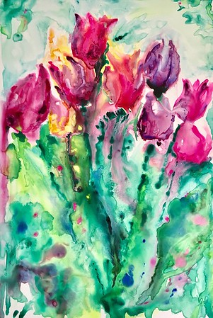 """Spring Soiree"" (watercolor) by Amy Goolkasian"
