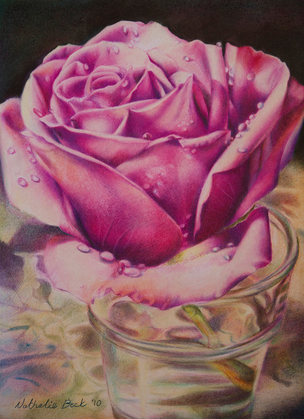 """""""Salvaged"""" (colored pencil) by Nathalie Beck"""