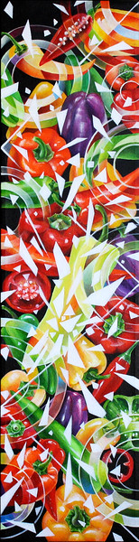 """Peppers"" (acrylic) by Natalia Rebrova"