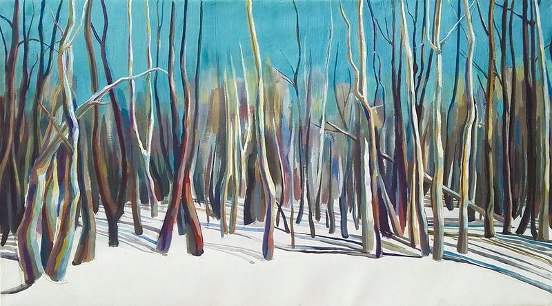 """""""In Front Of Horizon"""" (acrylic on canvas) by Alaeva Marina"""