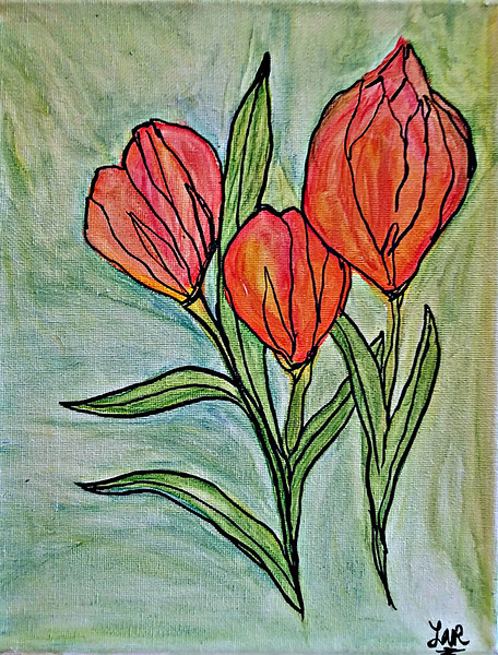 """""""Sweetness"""" (acrylic, watercolor, and ink on canvas) by Laura Romberger"""