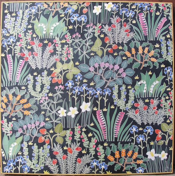 """""""MILLEFIORI"""" (silk, anilines) by Svetlana Vaganova"""