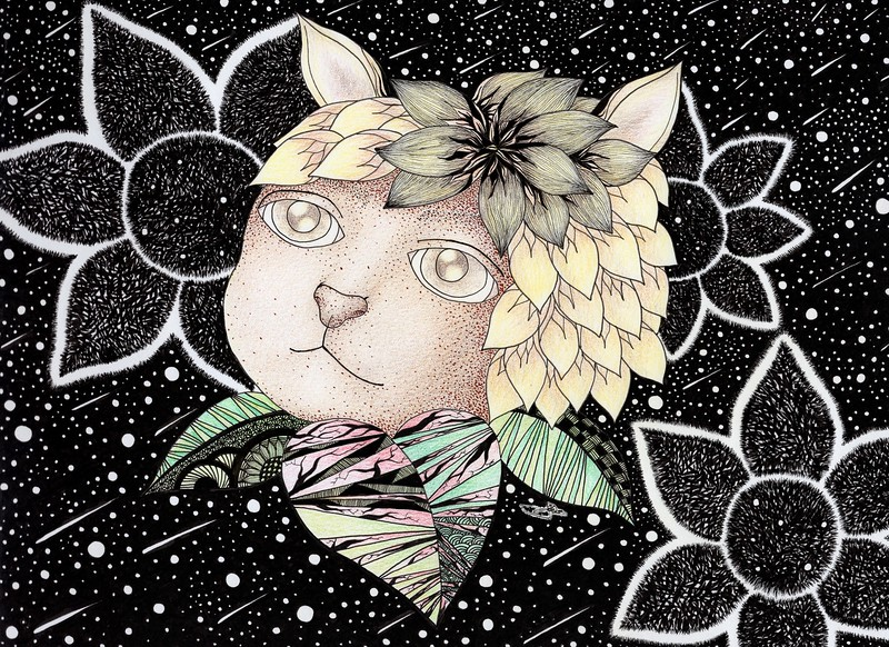 """""""Be.Lief"""" (pen, ink, colored pencils, final digital touch) by Jasmine Seo"""