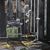 """Still life with daisies"" (oil) by Aleksandra Step"