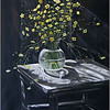 """Still life with yellow flowers"" (oil) by Aleksandra Step"