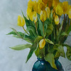 """Yellow tulips"" (watercolor) by Julia Rzhavtseva"