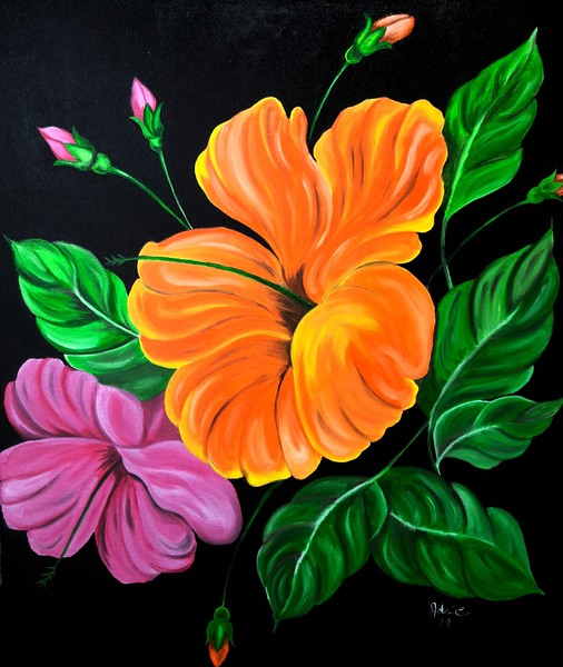 """""""Colors of Summer"""" (oil on canvas) by Adriana Calichio"""