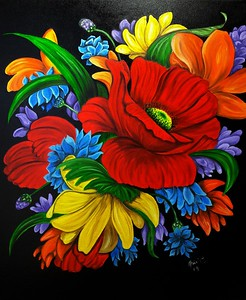 """""""Endlessly"""" (oil on canvas) by Adriana Calichio"""
