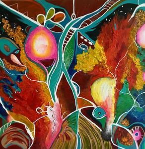 """Eden"" (acrylic on canvas) by Nell-Lynn Perera"