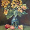 """Sunflowers"" (oil on cardboard) by Anna Mulyzeva"