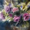 """Beauty in the vase"" (watercolor) by Evgeniya Kostikova"