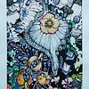 """Silver_garden"" (watercolor and acrylic) by Oksana Lopokha"