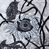 """""""Sunflower No.1"""" (Chinese ink on paper) by Kui Luo"""