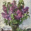 """The First Lilac"" (oil) by Oxana Logvinova"