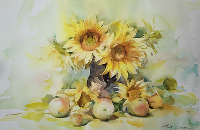 """""""Summer Breeze"""" (watercolor) by Jing Chen"""