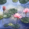 """lotus flower"" (watercolor) by Zhao Yanting"