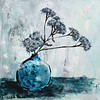 """Yarrow"" (oil on canvas) by Kira Droganova"