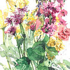 """Mother's Day Flowers III"" (watercolor) by Gloria Tseng Fischer"
