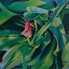 """Spring Green"" (colored pencil) by Pamela Clements"