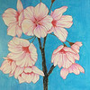 """""""Among flowers"""" (colored pencil) by Miao He"""