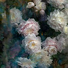 """Chinese herbaceous peony"" (mixed media) by Zhi Zheng"