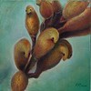 """Yellow skinned bird"" (oil) by Ronghui Ouyang"