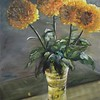 """Yellow Chrysanthemums"" (oil) by Elena Fleming"