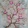 """Apple tree branch"" (oil) by Tamara Kaytmazova"