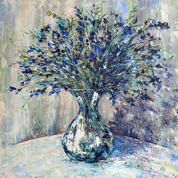 """""""Blue Bouquet"""" (oil) by Kateryna Ivonina"""