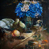 """Blue temptation"" (oil) by Yanqi Zhai"