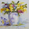 """""""Spring bouquet"""" (oil) by Kateryna Ivonina"""